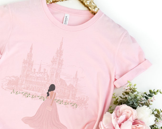 Custom Girl Womens Tee, Girl Ball Gown Palace
