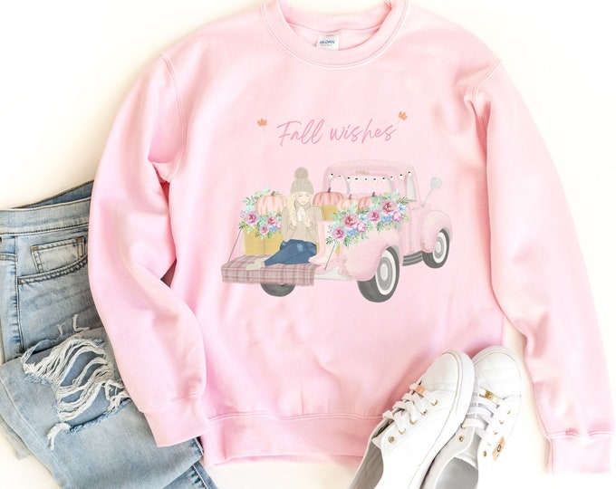 Autumn Wishes jumper for women, Fall Wishes Sweatshirt, Customized apparel, Personalized Christmas gift idea