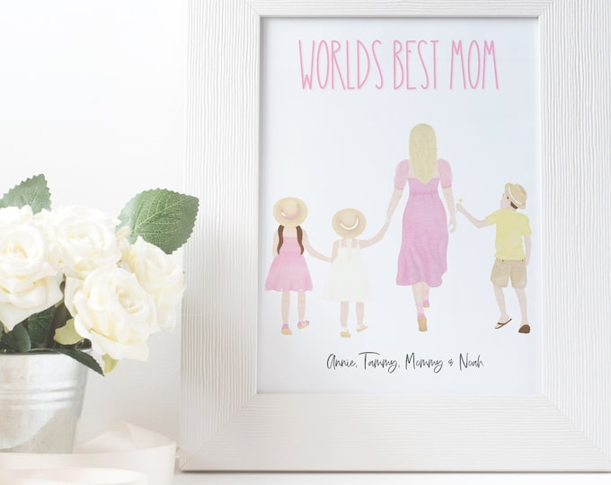 WORLDS BEST MOM Personalized and Custom Printable for Mom, Mothers Day Gift Idea, Choose your people and names!