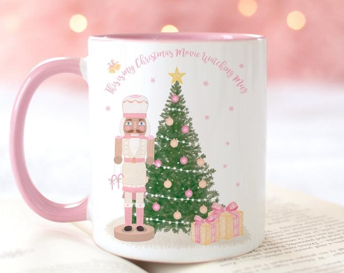 Personalized Pink Nutcracker Christmas Tree Mug