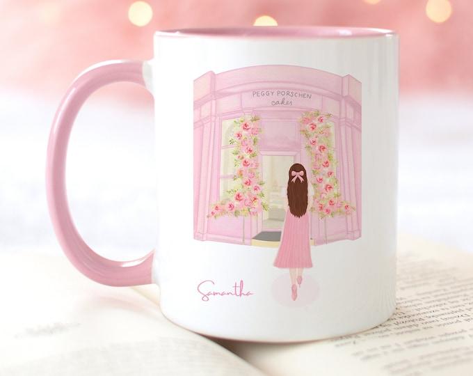 Personalized Pink Mug, Famous London Cake Shop