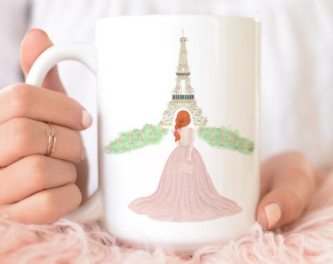 Custom Girl Paris Coffee Mug