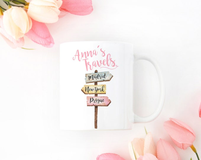 Personalized Mug for the Girly Traveler