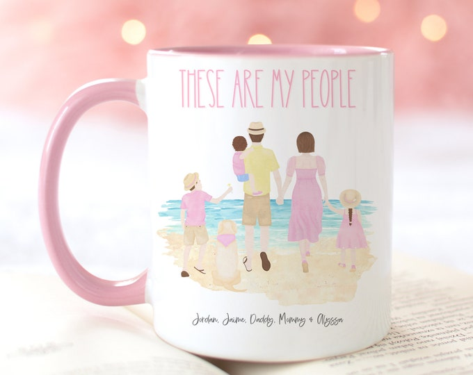 THESE ARE MY people personalized and custom family coffee mug