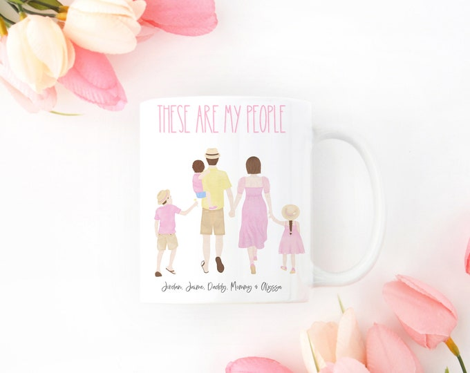 FAMILY COMES FIRST personalized and custom mug