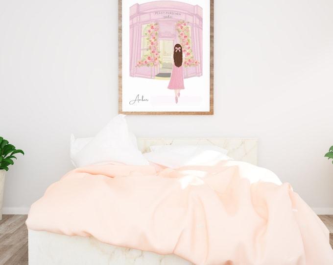 Custom Art Print, Girl in London