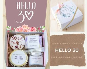 30th birthday gift for women, 30th Birthday Spa Gift Box, 30th birthday gift for her, Thirtieth Birthday gift, Gift ideas - hello30-ncdEGB