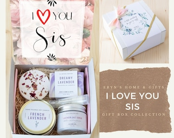 I Love You Sis Care Package, Sisters, Sister Gift, Gift Box, Gift Basket - Lovesis-ncdEGB