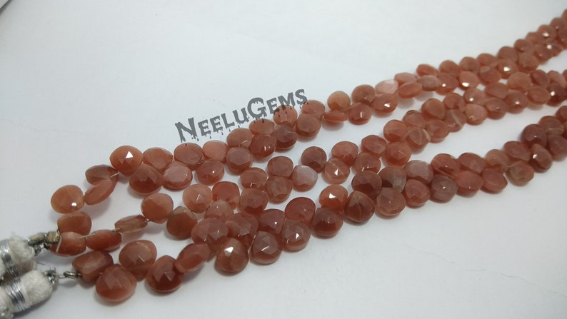 Amazing Quality Of Peach Moonstone 100/% Natural Peach Moonstone Faceted Heart Shape Beads Strand Peach Moonstone Heart Shape Beads Strand