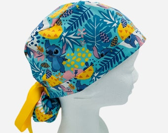 NURSING//MEDICAL pixie style surgical scrub hat with matching ribbon