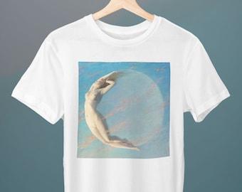 Selene, Albert Aublet Painting, Unisex T-Shirt, Art T-Shirt, Erotic T-Shirt, Impressionism, Gift for Her, Gift for Him, Art Lover Gift
