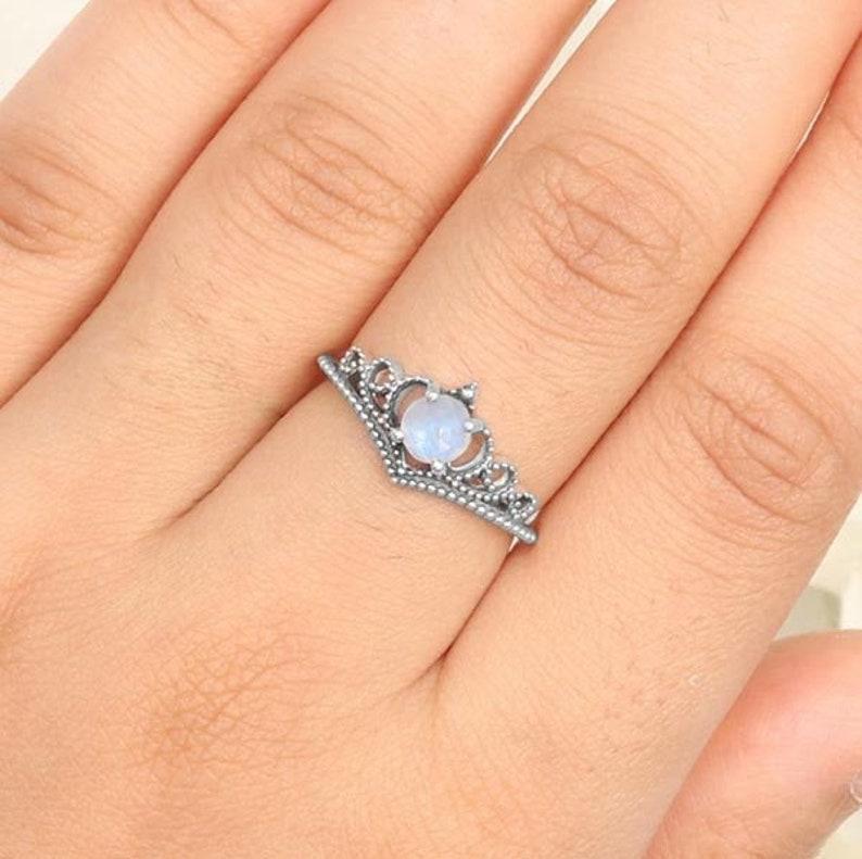 Rainbow Moonstone Ring \u2022 925 Sterling Silver \u2022 Real Moonstone Ring \u2022 Natural Moonstone Ring \u2022 Handmade Gemstone Ring \u2022 Semi Precious Ring \u2022