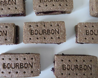 Dog Friendly Bourbon Biscuits - Healthy Dog Treats - Protein Dog Treats - Peanut Butter Dog Treats - Gifts for Dogs - Wheat Free Dog Treats