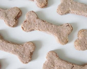 Pink Bones - Strawberry & Honey Dog Treats - Healthy Dog Treats - Homemade - Wheat Free Dog Treats