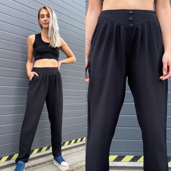 Vintage 90s Black Minimalist Pants