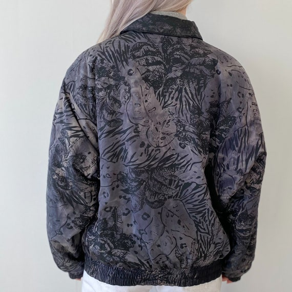 Vintage 90s Grey Black Beige Abstract Zip Jacket - image 4