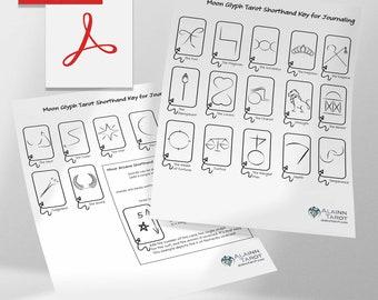 Moon Glyph Shorthand Tarot Key for Easy Tarot Journaling PDF