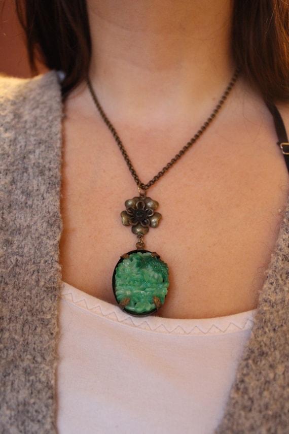 Floral Jade Necklace