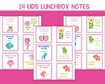 Lunchbox notes for girls, Preschool notes, Back to school kids printable cards, Bible verse lunch notes, Kids encouragement cards