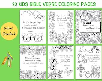 Kids Bible Coloring, Bible Verse Coloring, Kids Coloring Sheets, Scripture Coloring Pages, Kids Coloring Activity, Kids Coloring Pack