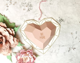 Geometric Heart Valentine Decoration SVG Cutting File