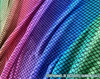 Minky Plush Fabric Dragonscales Rainbow