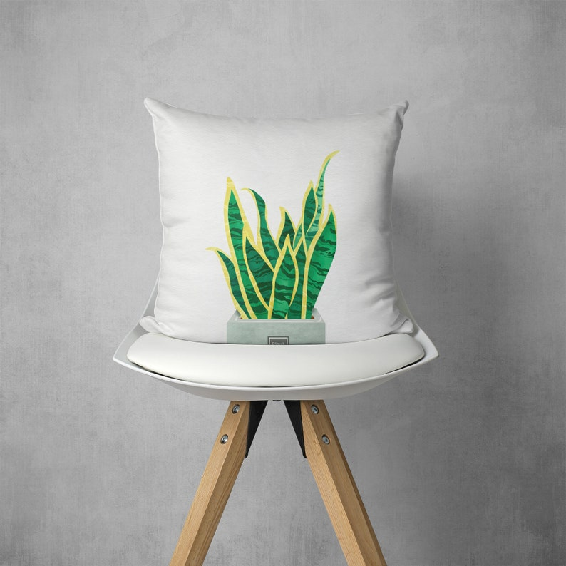 Plant Green pillow cover-Throw pillow cover-Sofa Decorative cushion cover-SquareLumbar Pillow case Home gift-Housewarming Gift