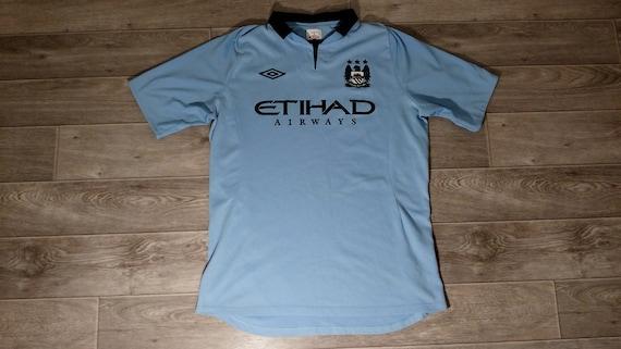 Manchester City FC Umbro Football Training Shirt Dark Grey Jersey 2011-12 Large