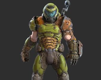 Praetor Helmet (Doom Eternal, Armor, 3D Printed DIY Cosplay Prop)