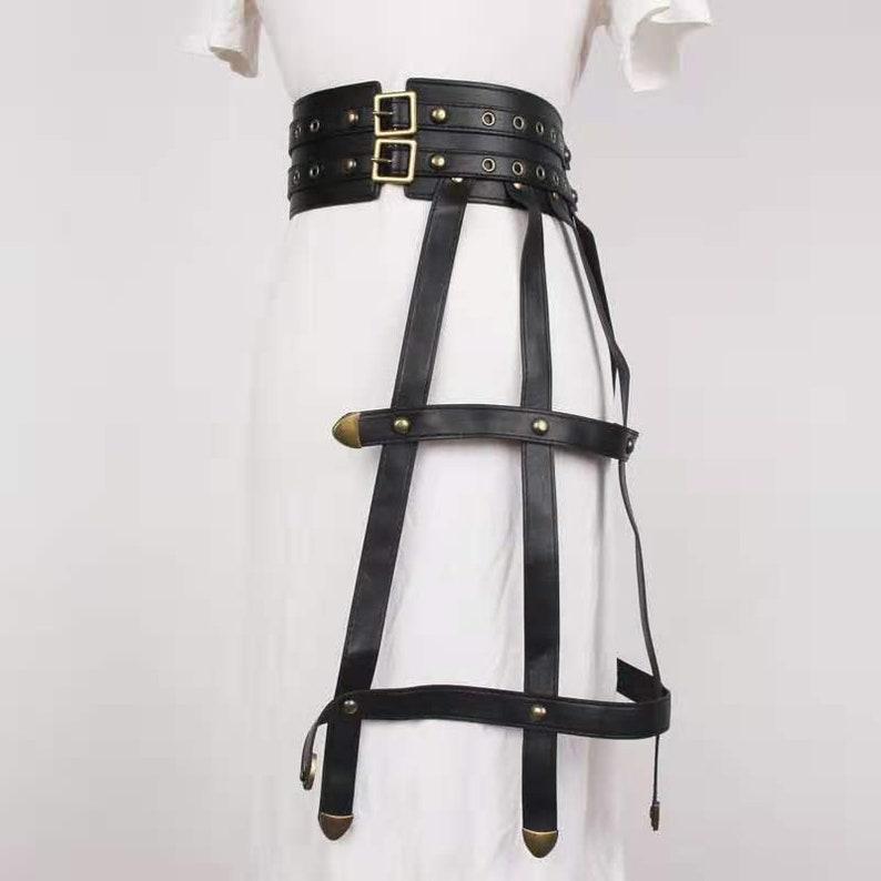 waistband,dress decoration,rock pu belt pu leather tassel belt cool belt,waist accessories leather dress,black leather belt,punk belt