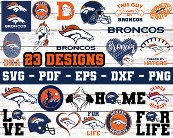 Broncos Distressed SVG Files