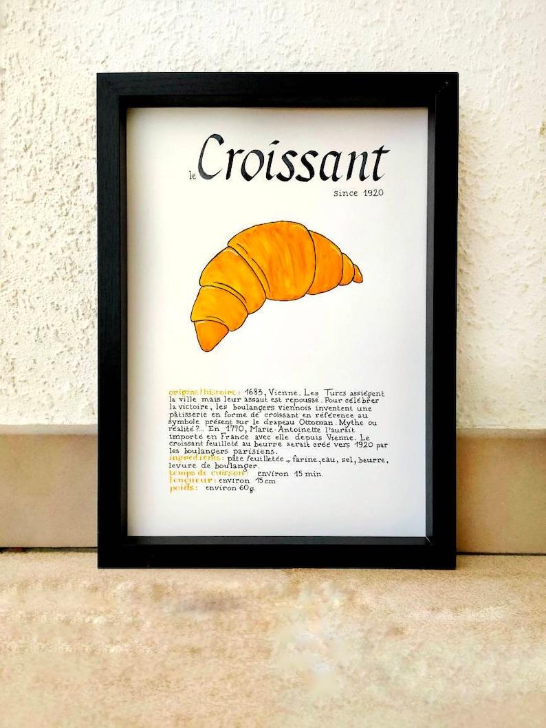 Affiche GOURMANDE  le Croissant since 1920 image 0