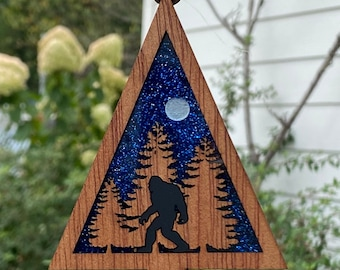 Comfort and Joy Ornaments  |  PNW Ornaments  |  Sasquatch | Handmade Holiday Gift