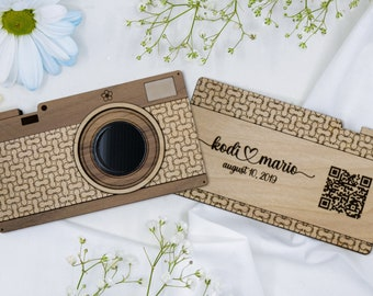 """Forget-Me-Not Vintage """"Camera"""" with Scannable QR code 