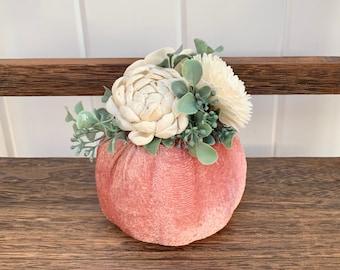 Pink Pumpkin Centerpieces, Velvet Pumpkin Set, Pink Velvet Pumpkin, Pink Pumpkin Baby Shower, Pink Pumpkin 1st Birthday, Pumpkin Tiered Tray