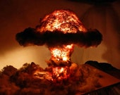 Bedroom lamps by DelightIdeas: Nuclear explosion bedside lamp