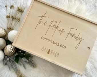 Personalised Christmas Box   Christmas Eve Box   Xmas Keepsake   Christmas Tradition   Wooden Box   Small + Large Boxes