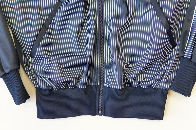 Vintage BLOUSE RODEO SPORT  Size SM Dark Navy Stripes  80s 90s