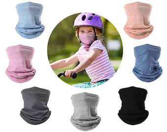 Heekpek Multifunctional Headwear Kids Face Cover Neck Gaiter Cartoon Face Covering Bandana Face Scarf For Kids Neck Gaiter Tube Scarf Kids Neck Warmer