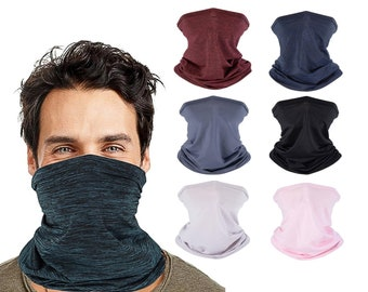 Adult Unisex Neck Gaiter, Lightweight Multifunctional Fabric Face Mask and Neck Cover for Men and Women