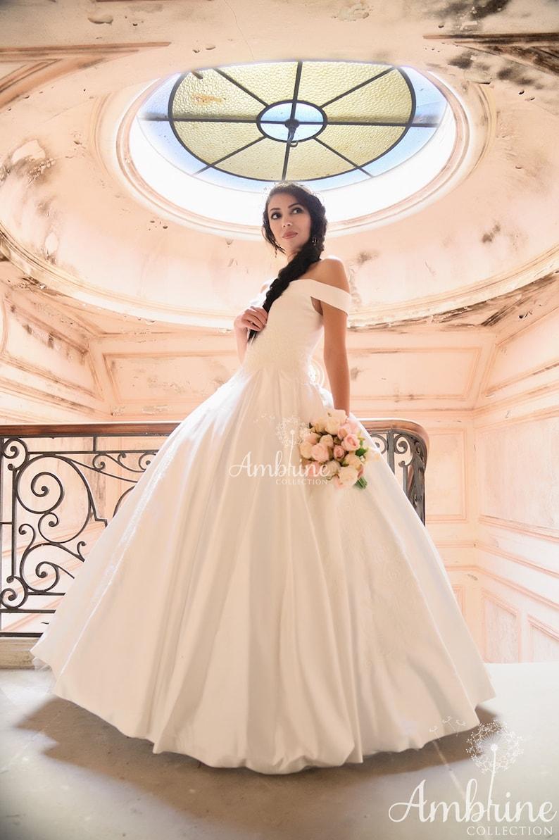 Trouwjurk prinses stijl romantische Assepoester luxe kasteel image 0