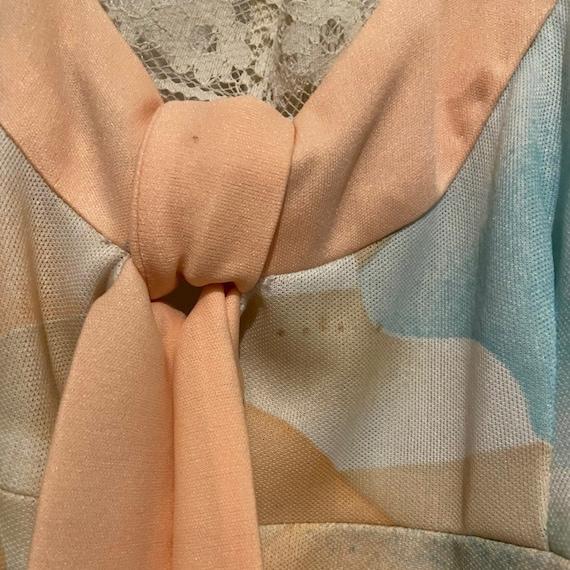 Vintage 70s pastel dress - image 4