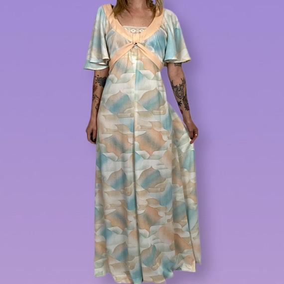 Vintage 70s pastel dress - image 1