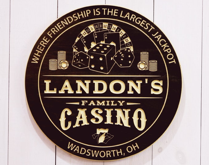 Personalized Family Casino Sign