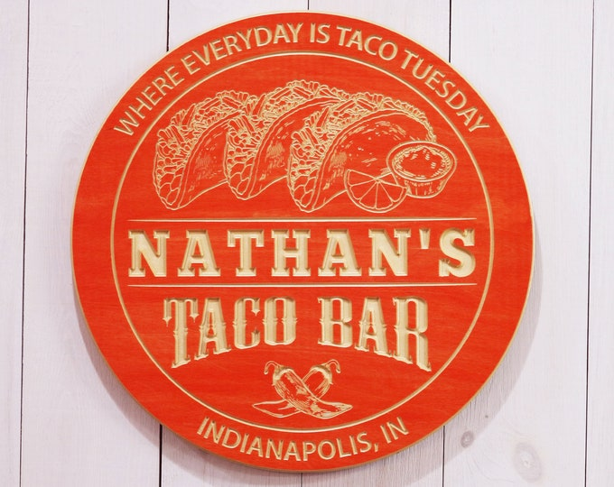 Personalized Taco Bar Sign
