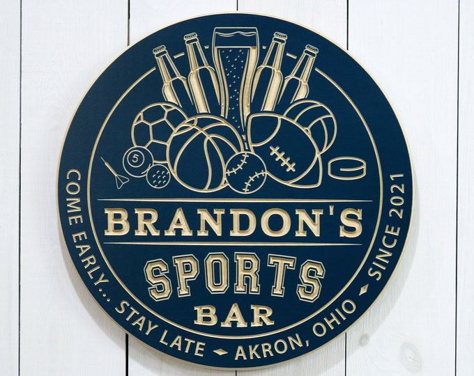 Personalized Sports Bar Sign
