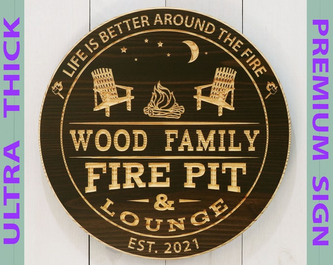 Premium Personalized Camp Fire Pit Sign