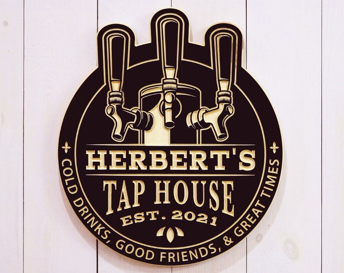 Personalized Tap House Sign