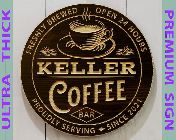 Premium Personalized Coffee Bar Sign