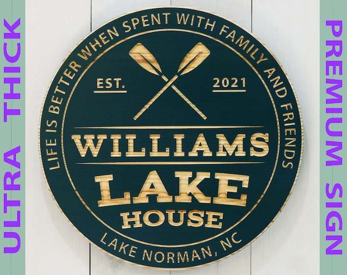 Premium Personalized Lake House Sign
